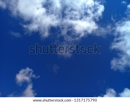 Brightness of blue sky, white clouds #1317175790