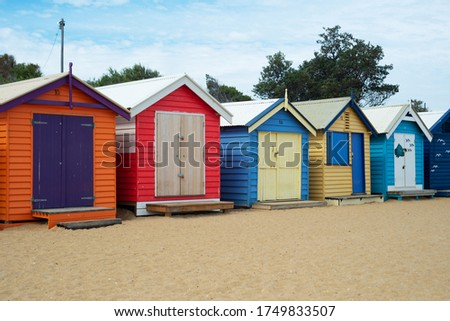 Brighton Bathing Boxes are located at Brighton Beach in Melbourne, Australia. It is one of the most photographed spots in Melbourne.