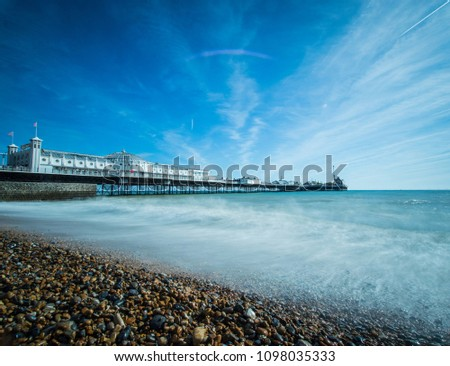 Brighton Pier on a sunny day, Sussex, UK