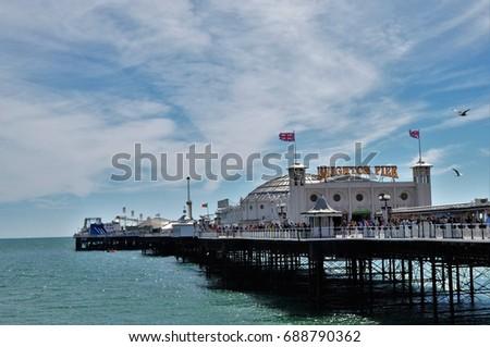 Brighton pier on sunny day #688790362