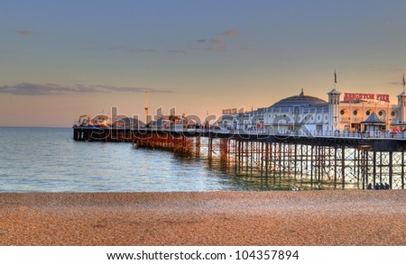 Brighton Pier. UK - stock photo