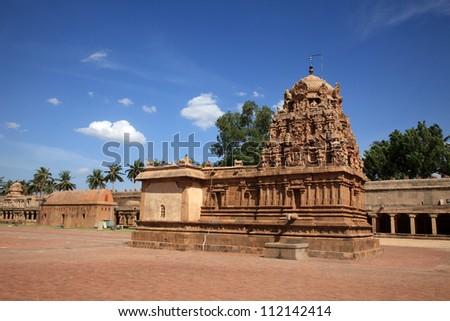 Brihadeeswarar Temple in Thanjavur, Tamil Nadu, India. One of the world heritage sites.