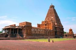 Brihadisvara Temple and Chandikesvara shrine, Tanjore, Tamil Nadu, India