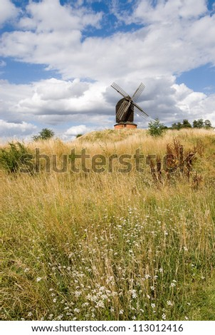 Brill windmill during a sunny summer day in UK
