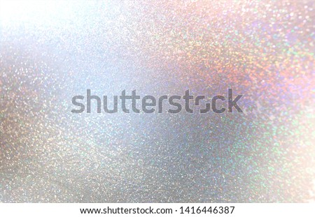 Brilliance crystals abstract texture. Pink blue grey yellow hologram sparkles. Shimmer attractive background. Gemstone mosaic glitter. Elite xmas holiday style.