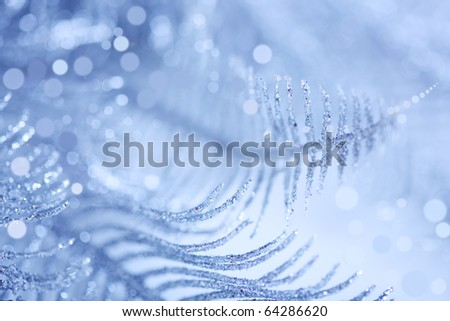 brilliant blue Christmas background