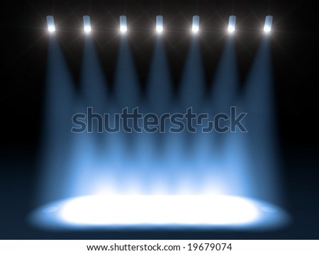 Brilliant blue stage lighting