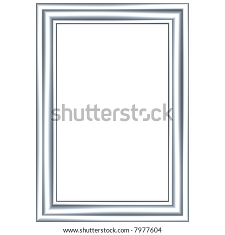 Brilliant 3d picture frame isolated on white
