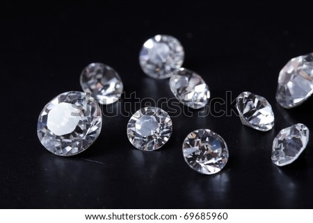 Brilliant diamond - stock photo