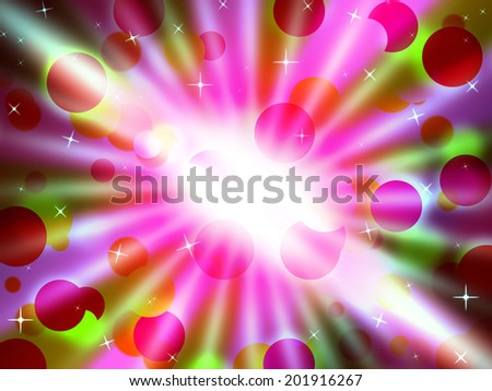 Brilliant Dots Background Meaning Circular Pattern And Glowing