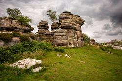 Brimham Rocks Yorkshire England UK