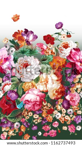 Bring warm flowers, the leaves and flowers art design