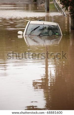 BRISBANE, AUSTRALIA - JAN 13 : Flood  Brisbane  auchenflower area Queensland declared natural disater January 13, 2011 in Brisbane, Australia #68881600