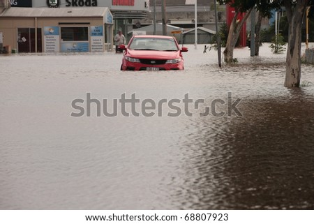 BRISBANE, AUSTRALIA - JAN 12 : Flood  Brisbane  Queensland declared natural disater January 12, 2011 in Brisbane, Australia