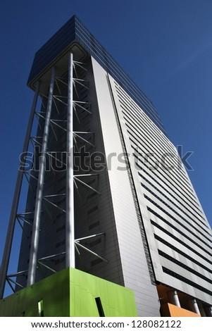 BRISBANE, AUSTRALIA - MARCH 20: Brisbane Square building on March 20, 2008 in Brisbane, Australia. The 151m tall building is among 10 tallest in Brisbane (2013).