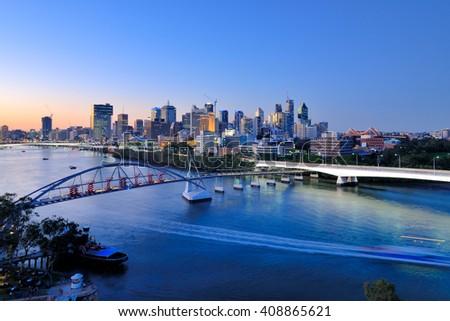 Shutterstock Brisbane city skyline and Brisbane river viewing from Kangaroo Point