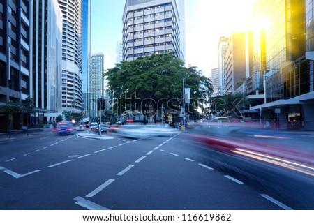 Brisbane city street - stock photo