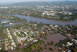 Brisbane Flood of 2011 in which 28,000 homes were flooded - the worst natural disaster in the history of the city in Queensland, Australia.
