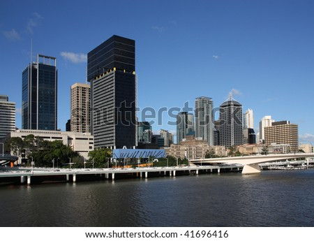 Brisbane, Queensland. Beautiful city and the river. Australia summer.