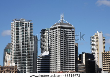 Brisbane, Queensland. Beautiful city skyline - modern architecture. - stock photo