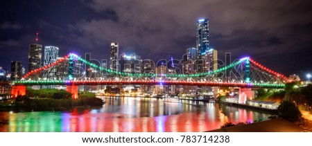 Brisbane scenery, city view, afternoon view, night view