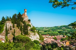 Brisighella, a town nestled in the hills of Romagna.
