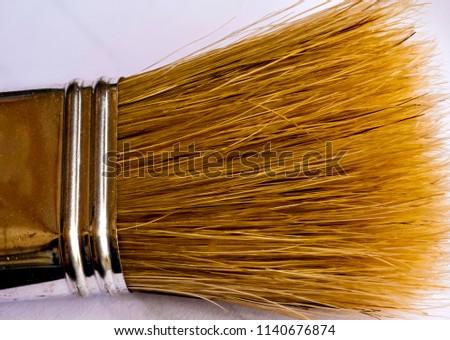 Bristles from the brush Brush bristles in closeup. #1140676874