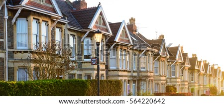 Bristol city victorian houses #564220642