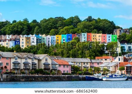Stock Photo Bristol Cityscape, natural colours