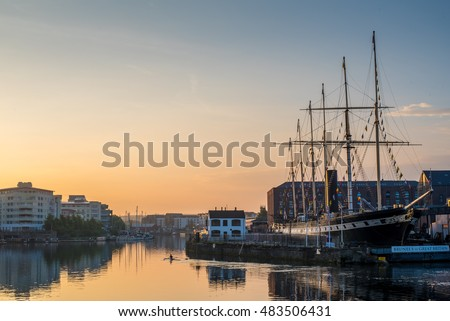 Bristol Waterfront, England, UK with Brunel's SS Great Britain #483506431