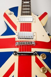 brit pop electric guitar with british flag painted
