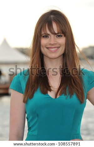 "British actress Hayley Atwell promoting her new movie ""10 Things I Hate About Life"" at the 65th Festival de Cannes. May 18, 2012  Cannes, France Picture: Paul Smith / Featureflash"
