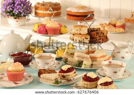 british afternoon tea  scones...
