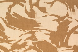 British armed force desert dpm camouflage fabric texture background