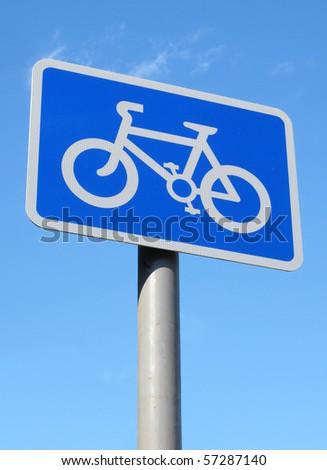 British cycle lane sign.