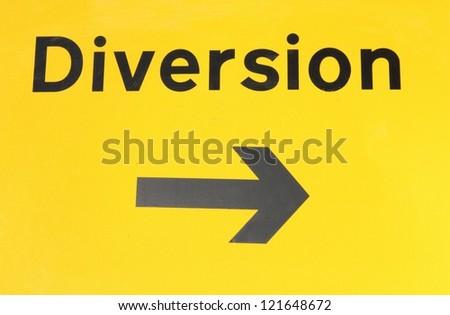 British diversion traffic sign