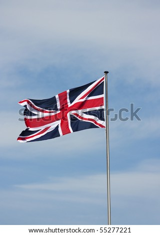 British Flag blowing in the wind