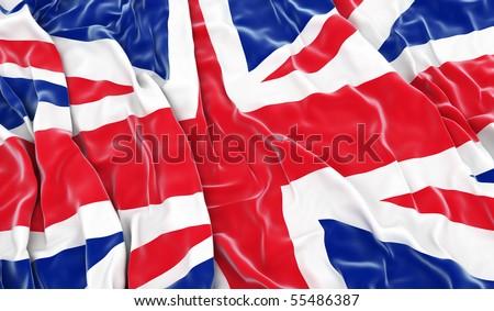 British flag - 3D render