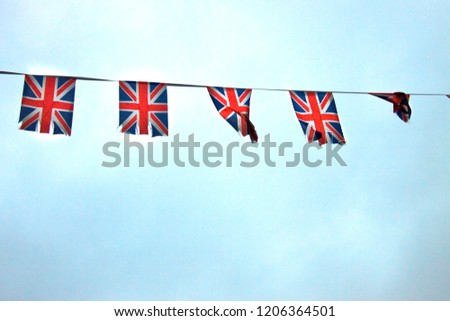 British flags on a tape #1206364501