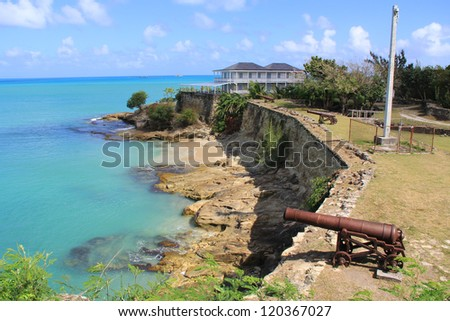 British Fort James was built to guard St. John�s Harbour in Antigua and Barbuda in the Caribbean.