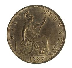 British halfpenny of Queen Victoria