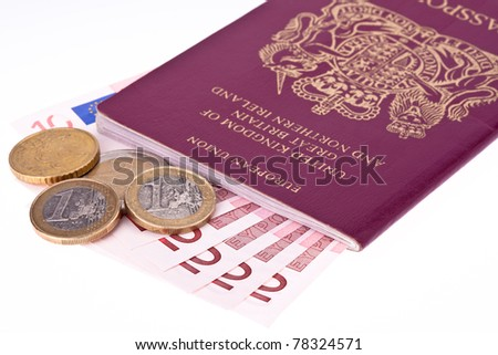 British passport and Euro's