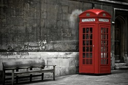 British Phone Booth in London, United Kingdom