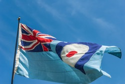 British RAF flying in the wind.