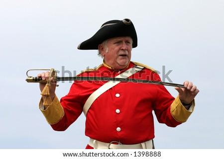 British Red-Coat With Sword Stock Photo 1398888 : Shutterstock