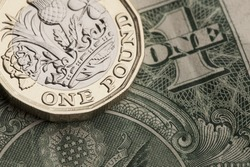 British sterling and American dollar currency. Financial trade concept