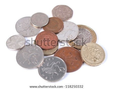 British Sterling Pound (GBP) coins