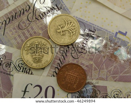 British Sterling Pound (GBP) coins and banknotes