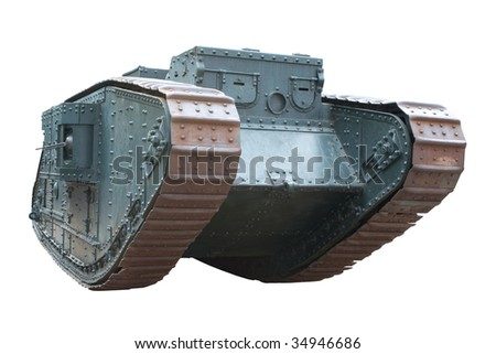 British tank first world war mark v stock photo