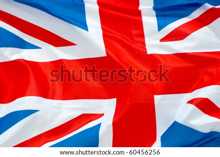 british union flag waving in the breeze